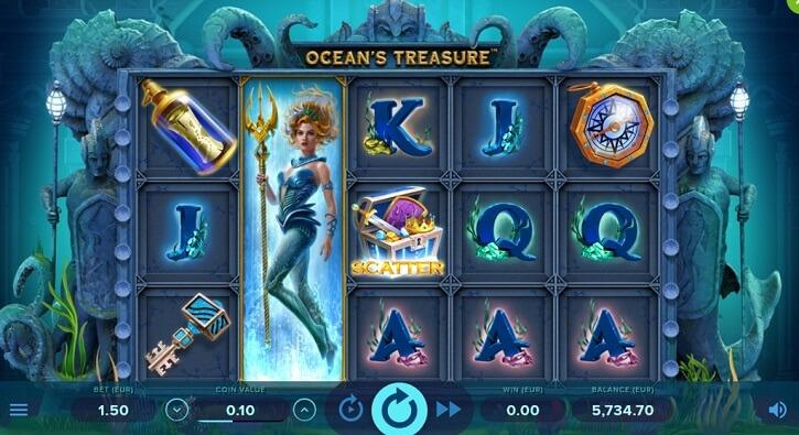 oceans treasure slot screen