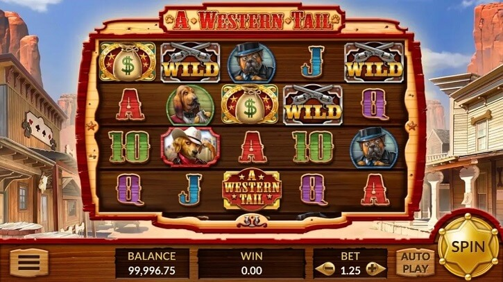 a western tail slot screen