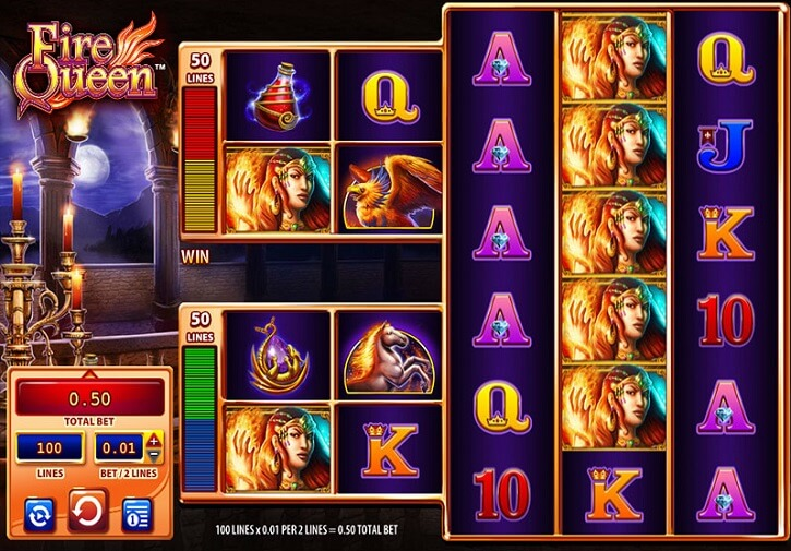 fire queen slot screen