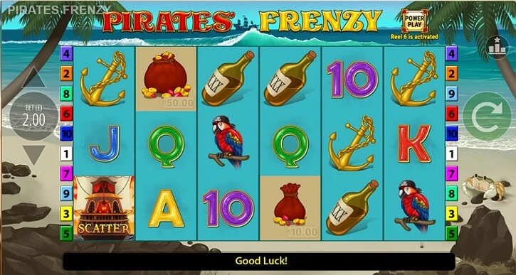 pirates frenzy slot screen