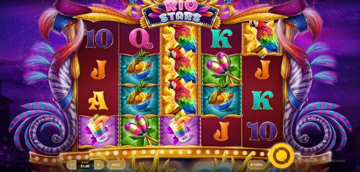 rio stars slot screen