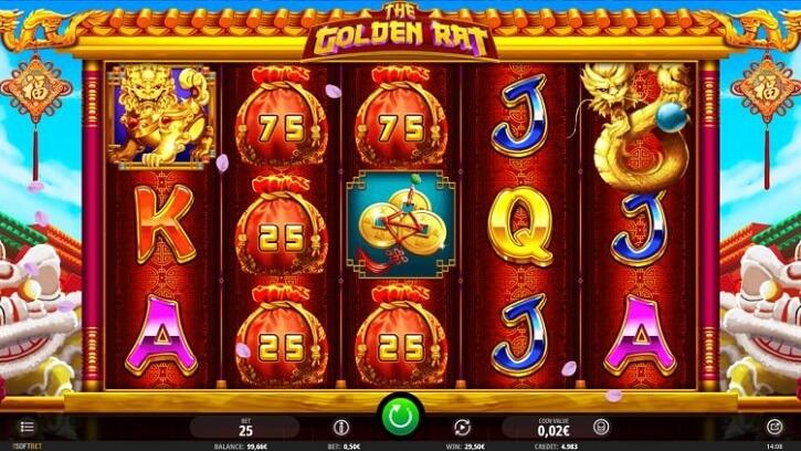 the golden rat slot screen