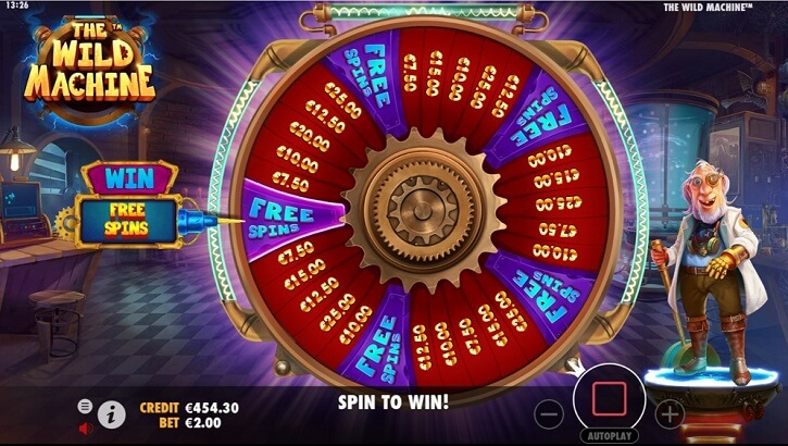 the wild machine slot wheel