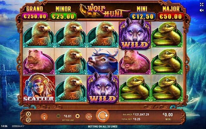 wolf hunt slot screen