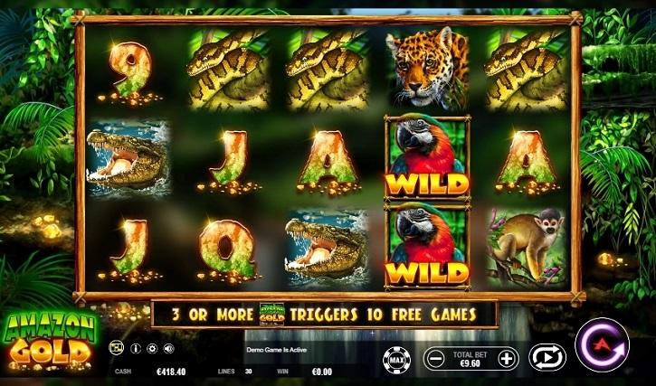amazon gold slot screen