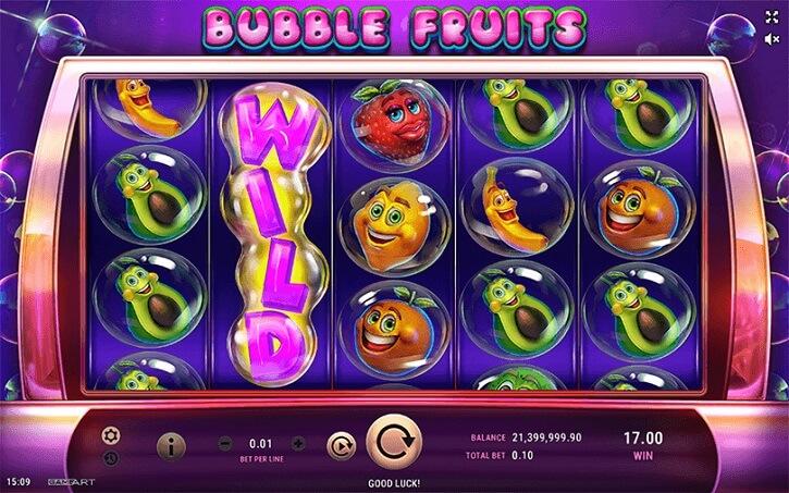 bubble fruits slot screen