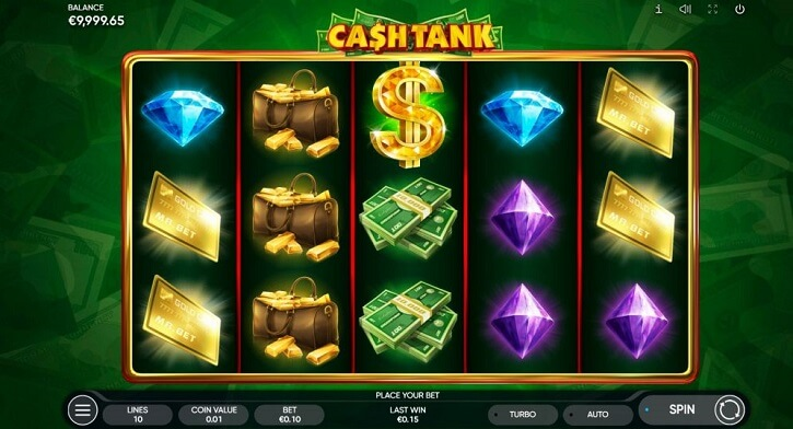 cash tank slot screen