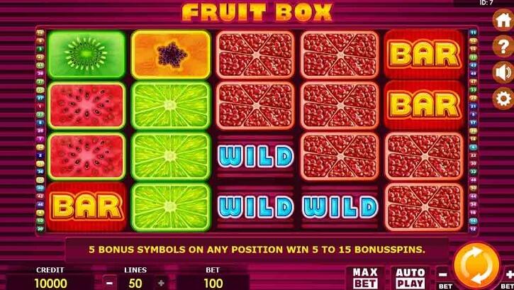 fruit box slot screen