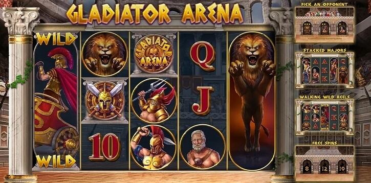 gladiator arena slot screen