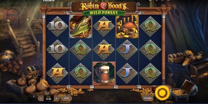robin hoods wild forest slot screen