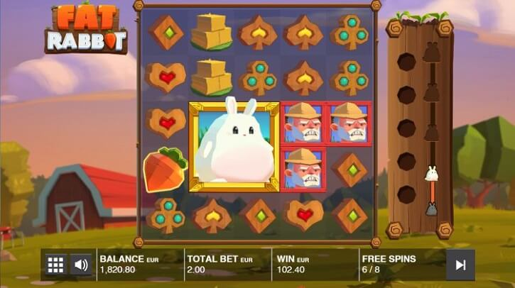 fat rabbit slot screen