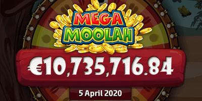 mega moolah jackpot aprill 2020