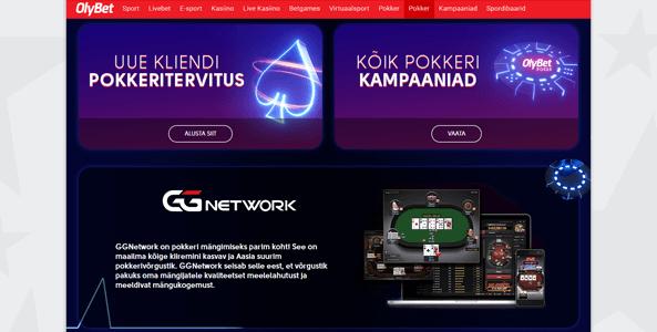 olybet pokker uus website