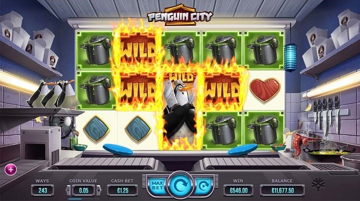 penguin city slot screen