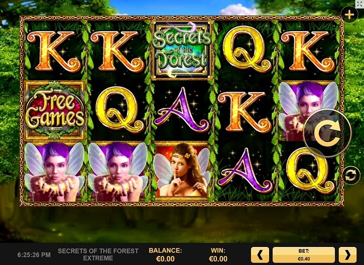secrets of the forest extreme slot screen