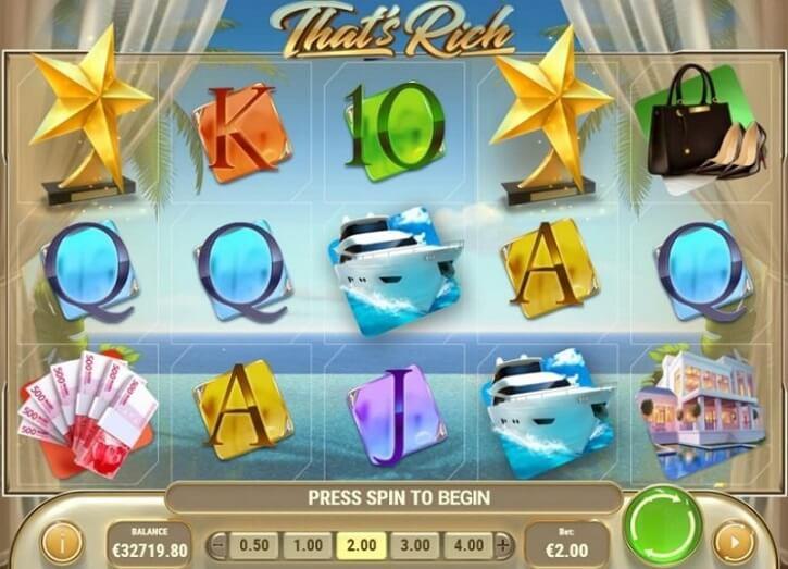 thats rich slot screen