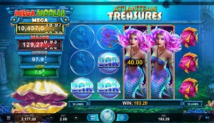 atlantean treasures mega moolah slot screen small
