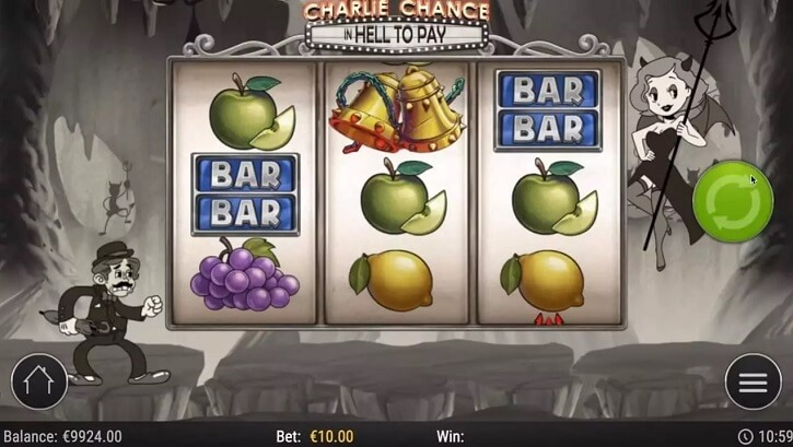 charlie chance slot screen