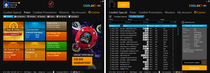 coolbet pokker ipoker lobby