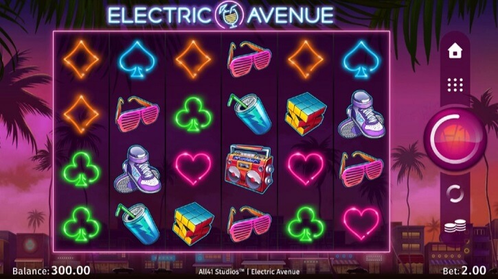 electric avenue slot screen