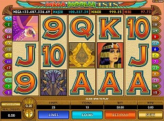 mega moolah isis slot screen small