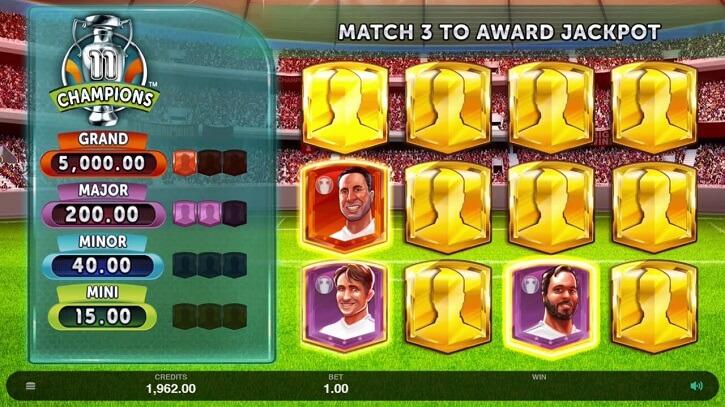 11 champions slot jackpot