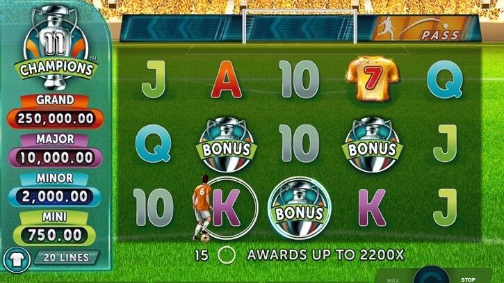 11 champions slot screen