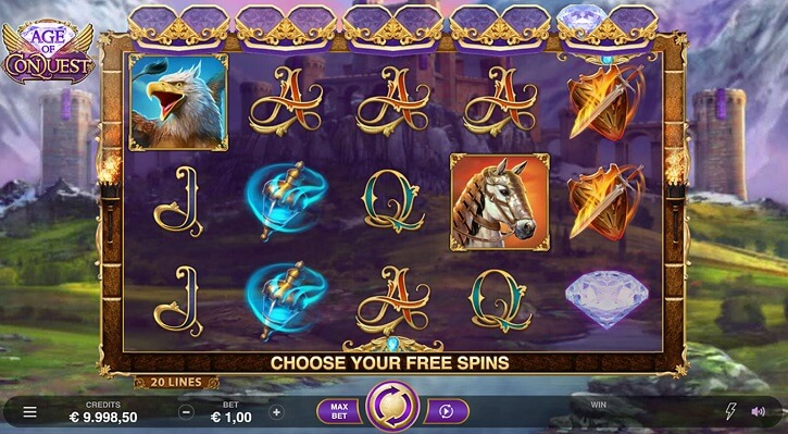 age of conquest slot screen