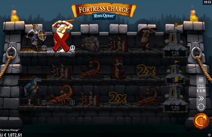 fortress charge slot screen