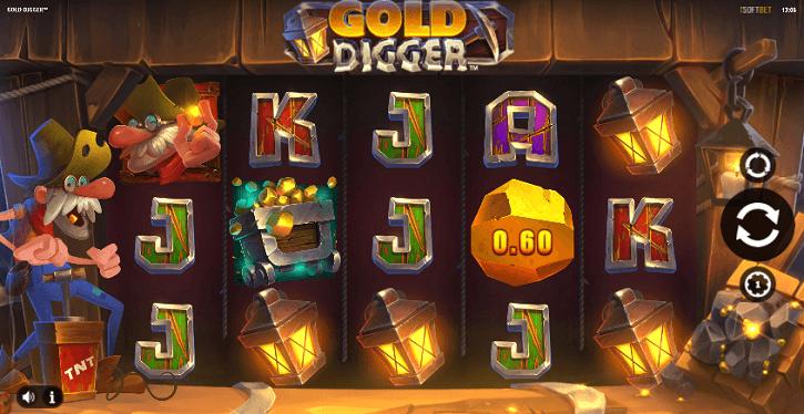 gold digger slot screen