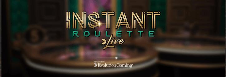 instant roulette live evolution gaming