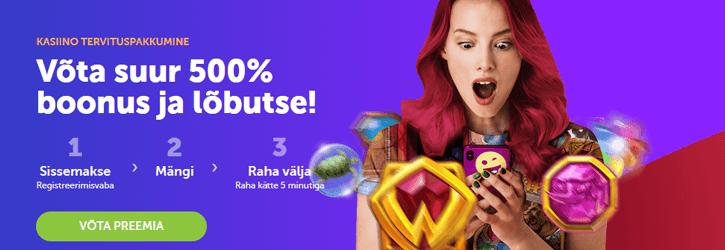 supercasino kasiino tervitus boonus kampaania uus
