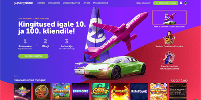 supercasino veebileht avamine