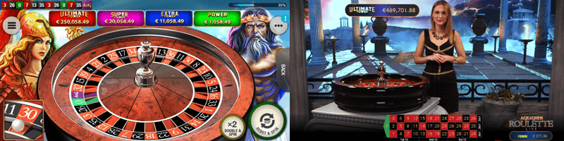 age of the gods roulette game screens
