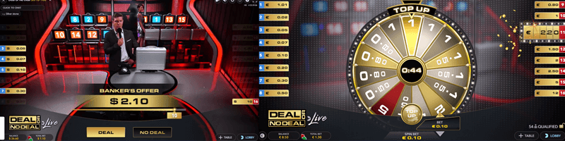 deal or no deal game screens