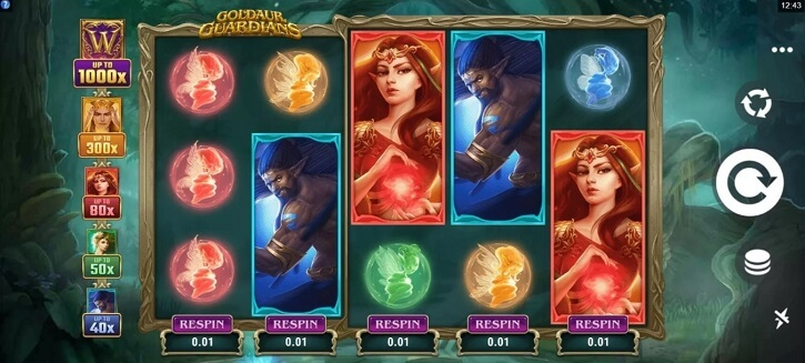 goldaur guardians slot screen