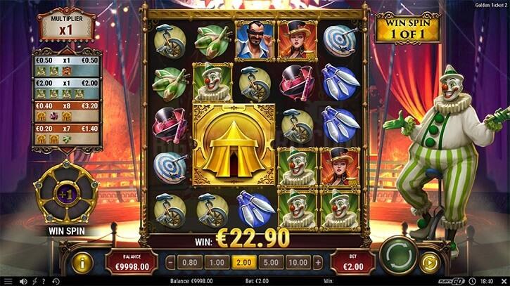 golden ticket 2 slot screen