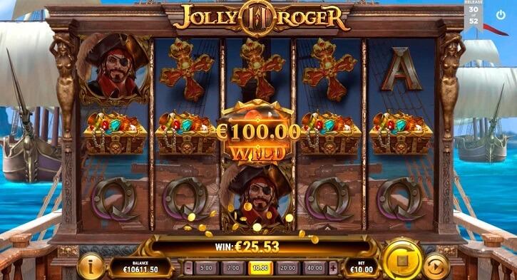 jolly roger 2 slot screen