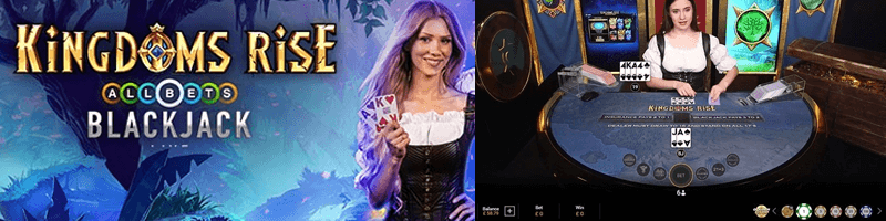 kingdoms rise allbets blackjack game screens