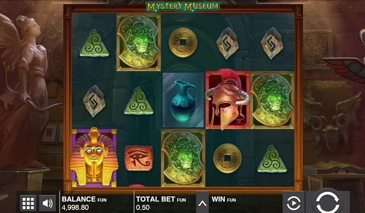 mystery museum slot screen