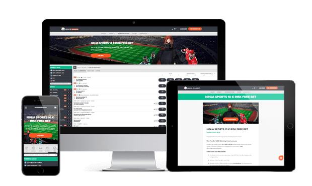 ninja sports website devices