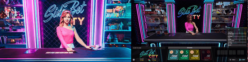 side bet city game screens