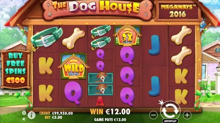 the dog house megaways slot screen