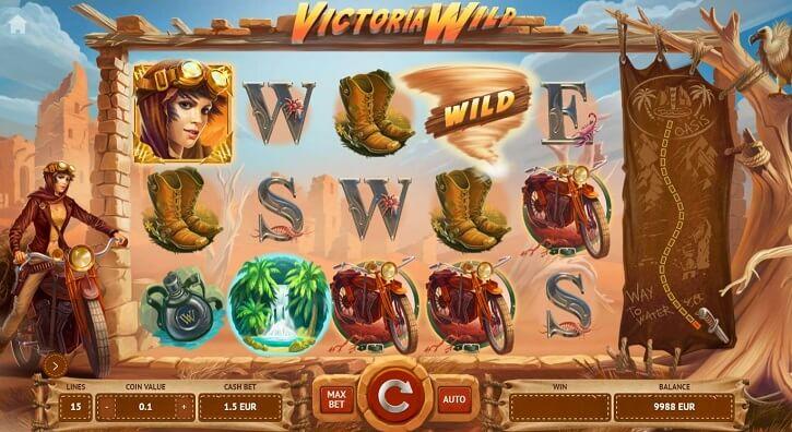 victoria wild slot screen