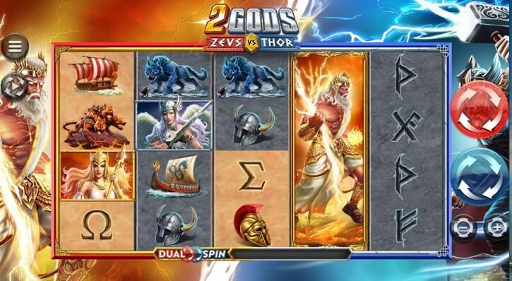 2 gods zeus vs thor slot screen