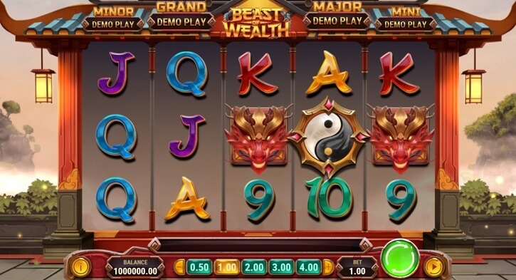beast of wealth slot screen