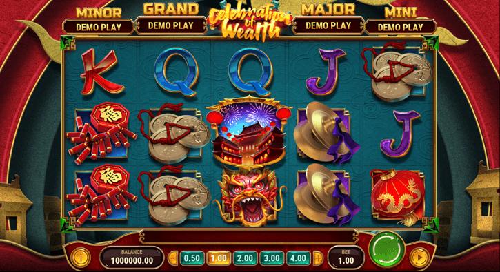celebration of wealth slot screen