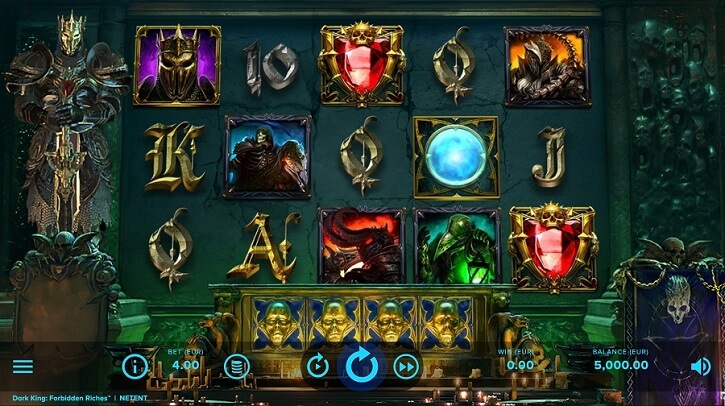 dark king forbidden riches slot screen