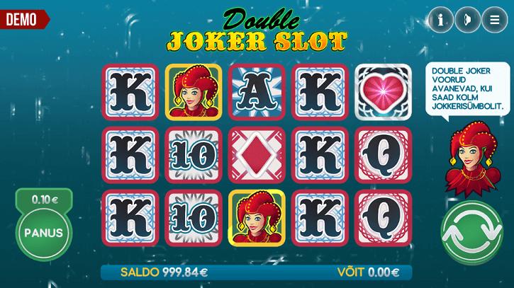 double joker slot screen