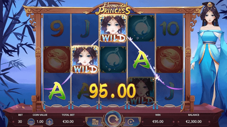 elemental princess slot screen